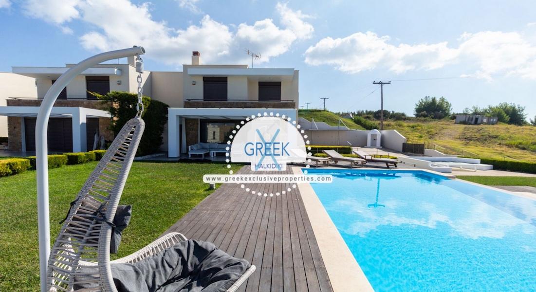 Beautiful Villa at Chanioti Halkidiki, Kassandra Halkidiki, Halkidiki Properties, Homes for sale in Halkidiki 25