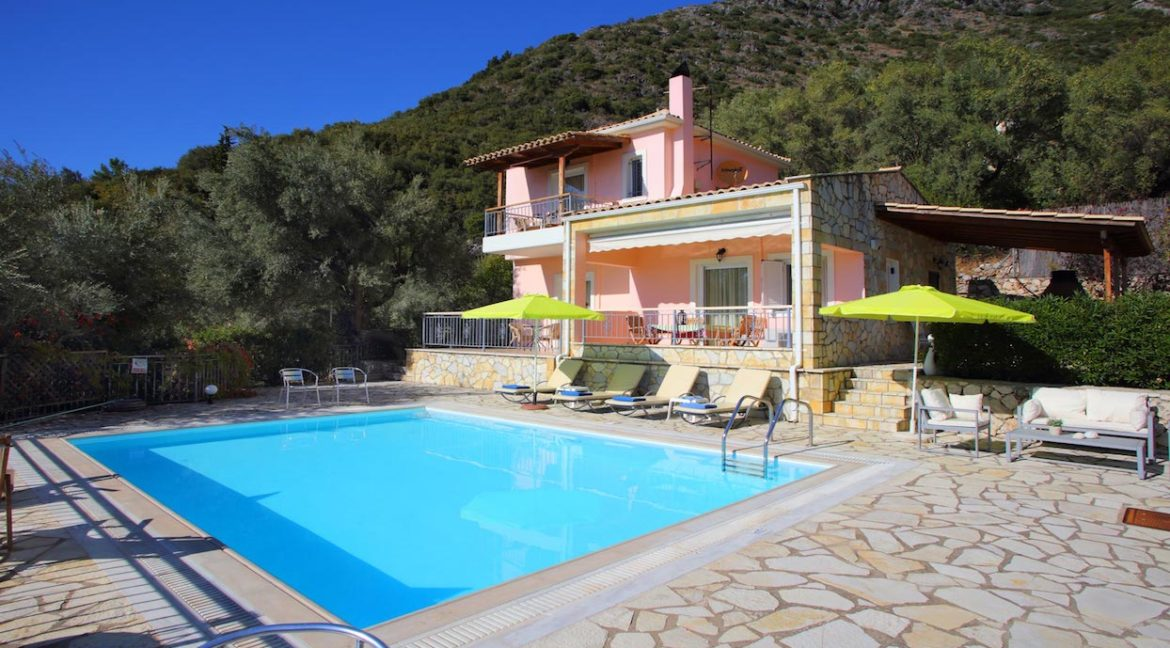 Villa in Lefkada across Skorpios island, Property in Lefkada Greece, Real Estate in Lefkas, Villa with Sea View in Lefkada
