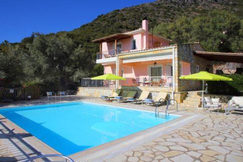 Villa in Lefkada across Skorpios island, Property in Lefkada Greece, Real Estate in Lefkas, Villa with Sea View in Lefkada