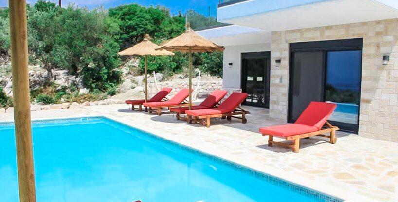 Real Estate Lefkada, Villa in Lefkada with panoramic sea view, New Built villa at Nydri Lefkada