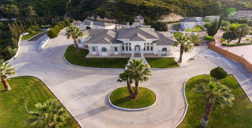 Amazing Top Hill Super Luxury Villa in Rhodes Greece for sale
