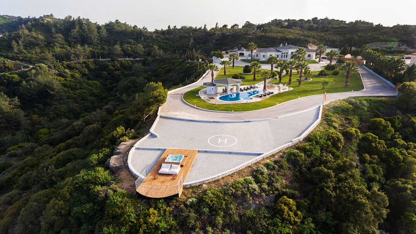 Amazing Top Hill Super Luxury Villa in Rhodes Greece for sale