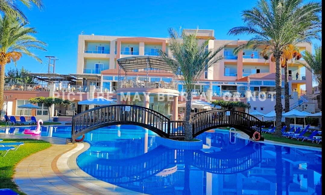 Hotel For Sale Chania Crete Greece, 500 meters from the sea