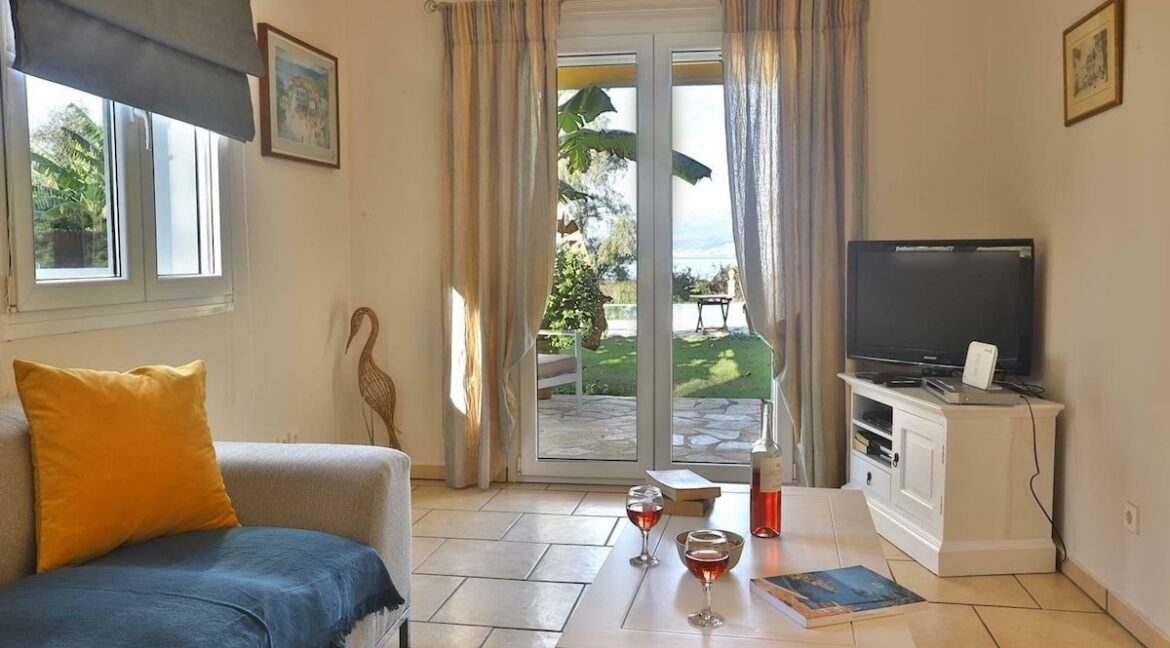 On the beach! Villa with direct sea access at Corfu, Kassiopi. Seafront Property Corfu Island Greece for Sale 4