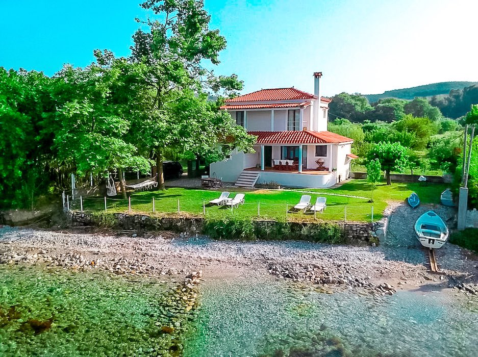 Seafront House in Evia Greece, Paleokastro