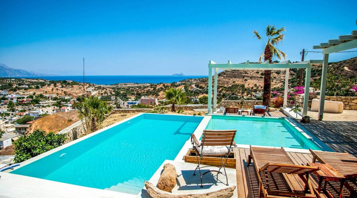 Excellent View Villa in South Crete, Top Hill Villa in Crete Greece