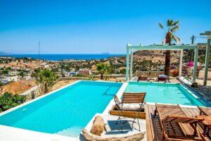 Excellent View Villa in South Crete, Top Hill Villa in Crete Greece