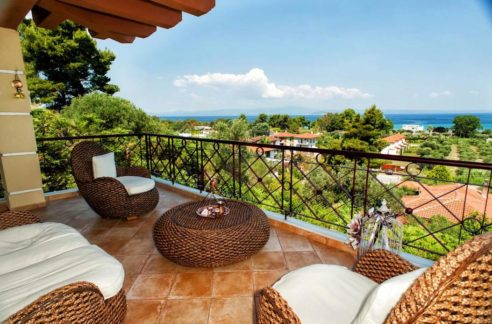 House with sea view for Sale Pefkohori Halkidiki, Kassandra