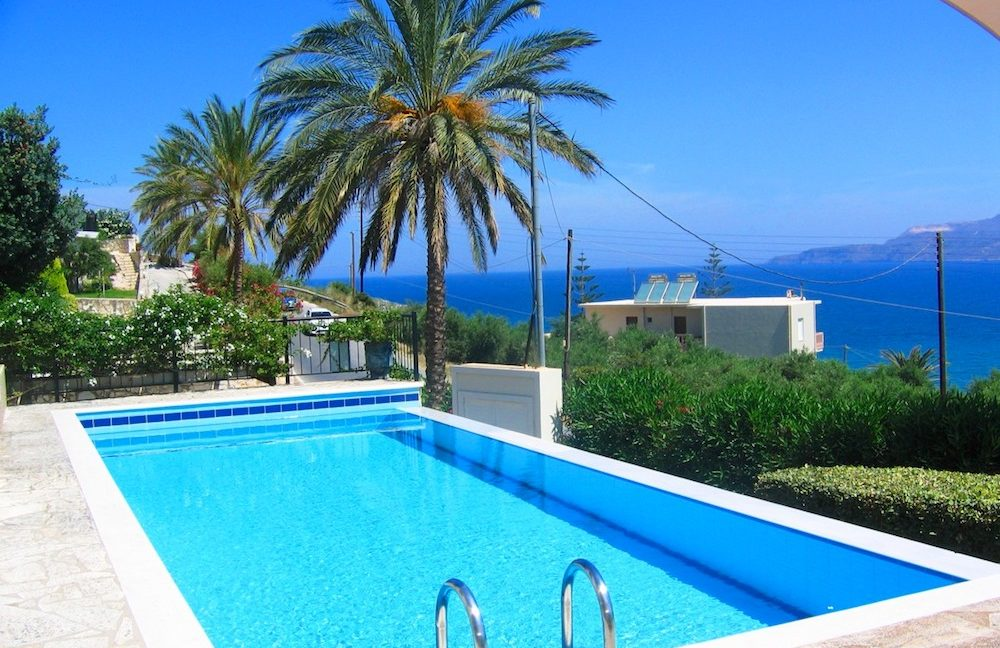 House with sea views in Crete for Sale, view at Souda Bay