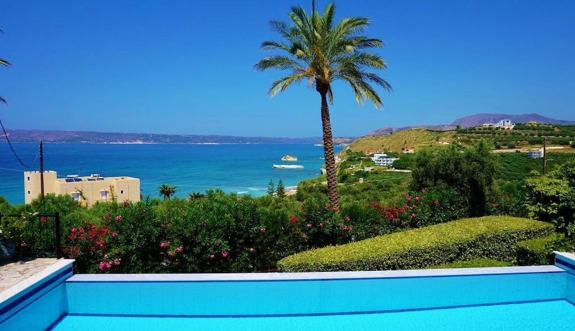 House with sea views in Crete for Sale, view at Souda Bay 19