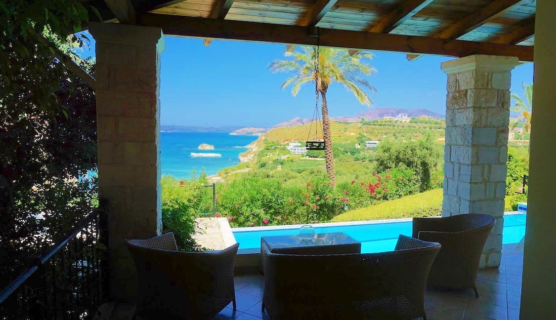 House with sea views in Crete for Sale, view at Souda Bay 7