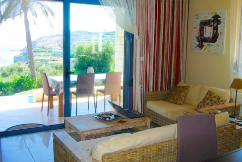 House with sea views in Crete for Sale, view at Souda Bay 8