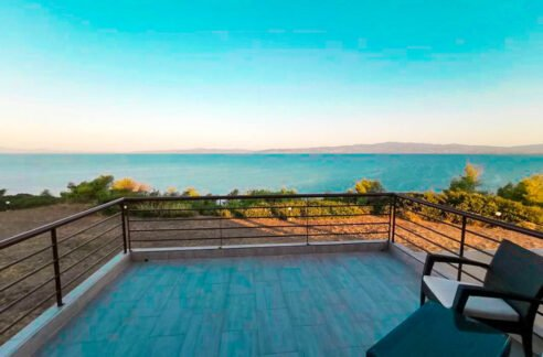 Seafront House for Sale Kassandra Halkidiki, Potidea, Halkidiki Houses, Real Estate in Halkidiki Greece