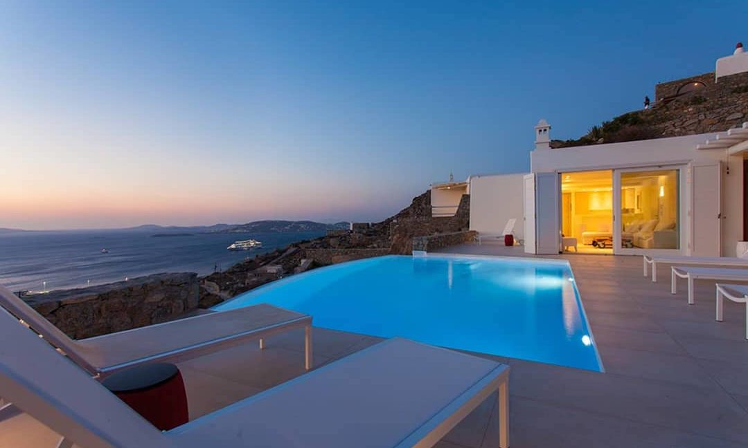 Villa in Tourlos Mykonos with sea view, Mykonos Property 12