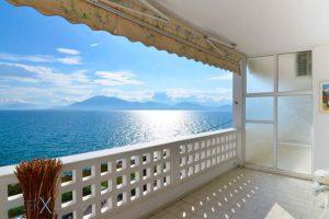 Beachfront Flat Evia Artaki, Seafront Apartment for Sale Evia Greece