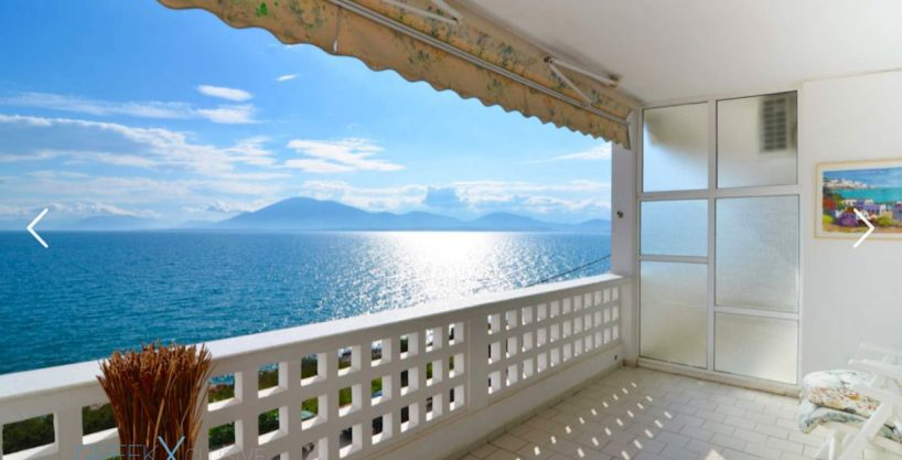 Beachfront Flat Evia Artaki, Seafront Apartment for Sale Evia Greece