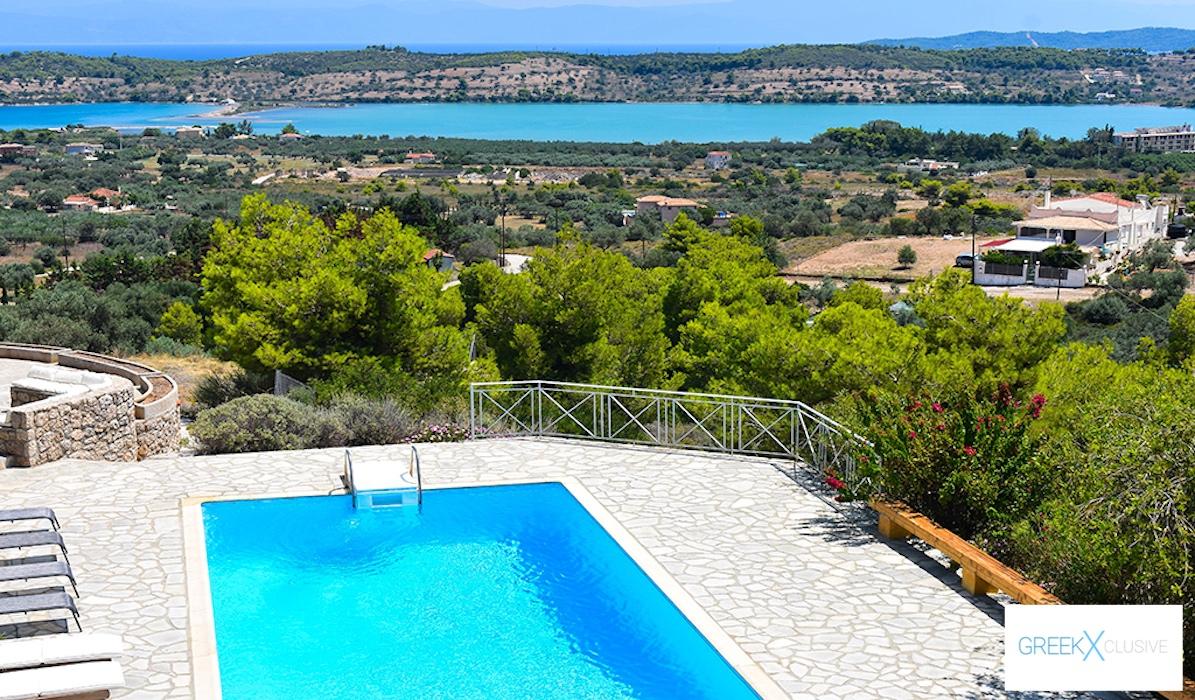 Villa for sale in Porto Heli Greece, Ververonta