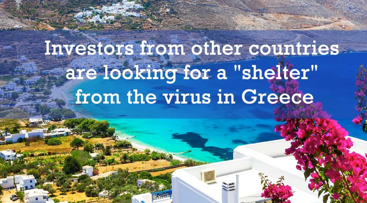 """Investors from other countries are looking for a """"shelter"""" from the virus in Greece"""