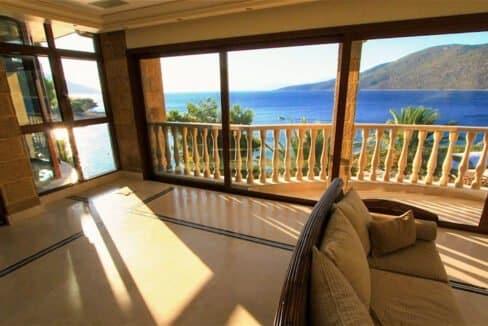 Luxury Sea front Villa in Attica FOR SALE - Porto Germeno, Luxury Beachfront Estate Greece, Luxury Estates Greece 12