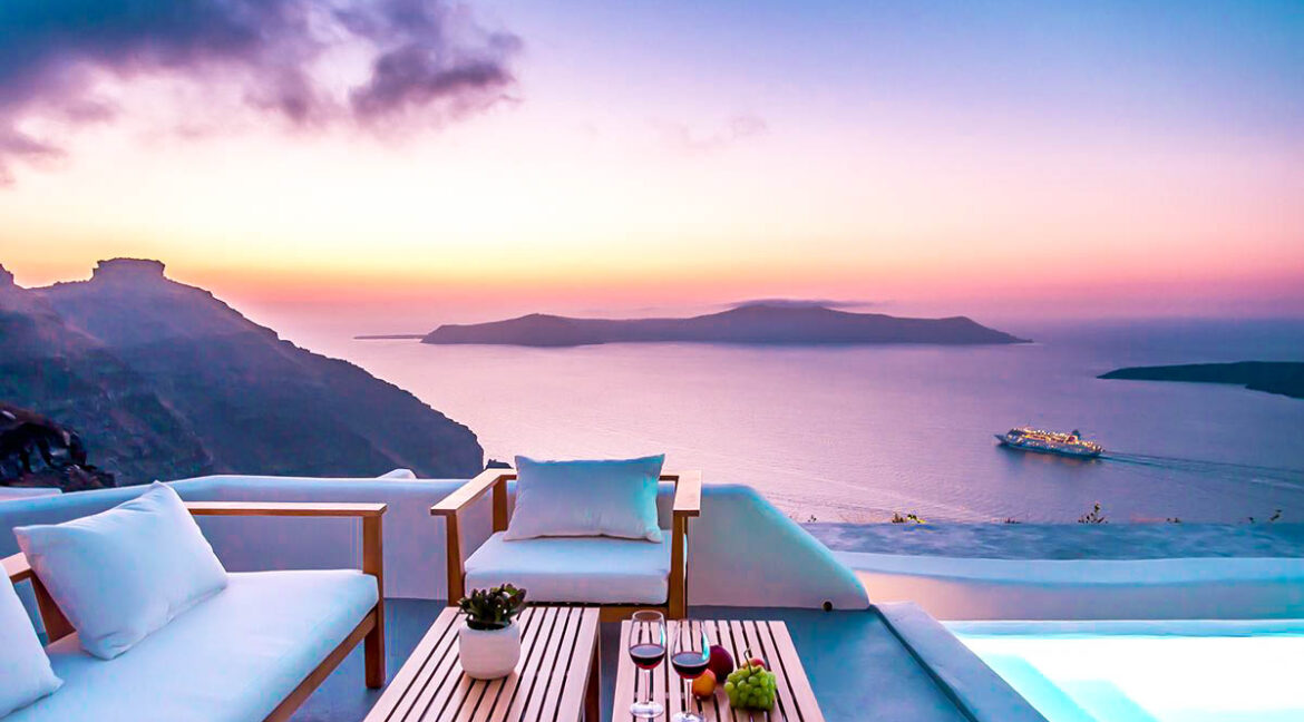 Santorini Luxury Estate Villa At Caldera, Property in Greece, Luxury Estate, Real Estate Greece