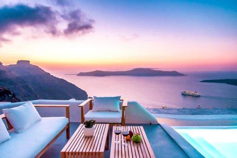 Santorini Luxury Estate Villa At Caldera, Property in Greece, Luxury Estate, Real Estate Greece