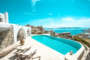 Sea View Villa near Ornos Mykonos, Mykonos Houses