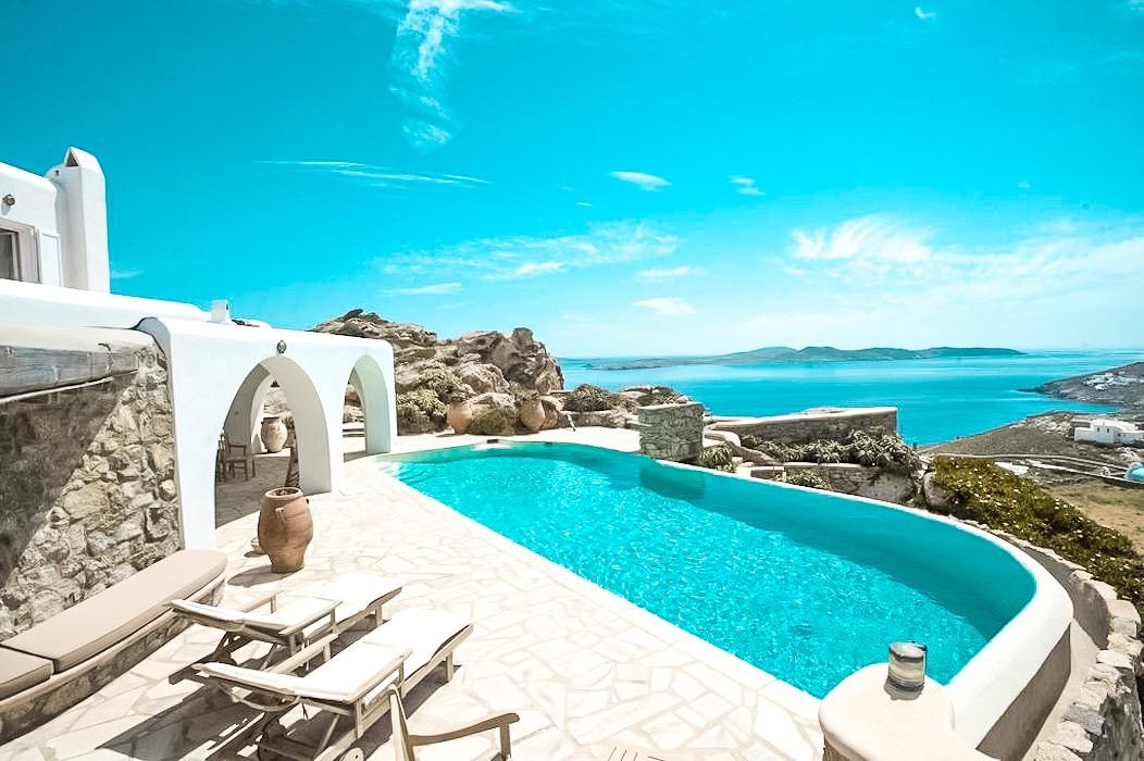 Amazing Sea View Villa near Ornos Mykonos