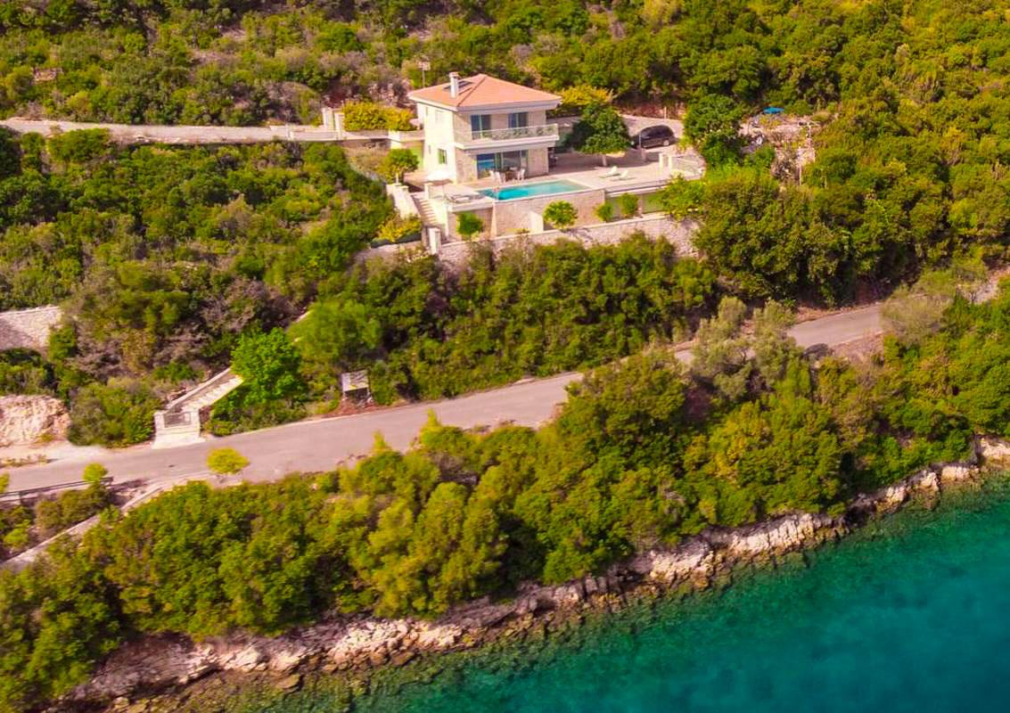 Seafront Villa Meganisi Lefkada. + Private Marina! Private Beach!