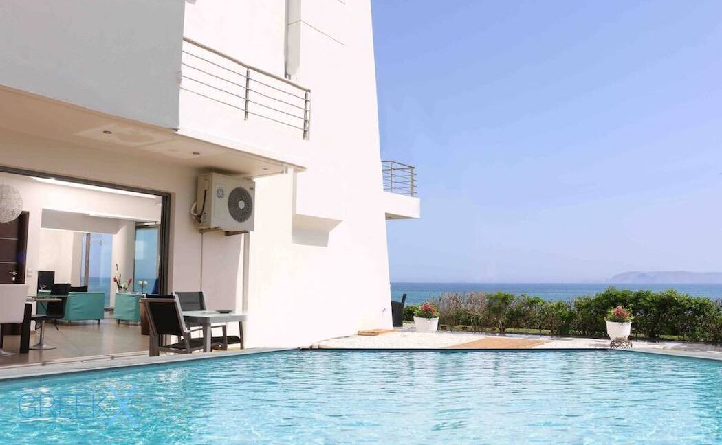 Villa at the Beach in Gouves Heraklio, Seafront Villa Crete 5