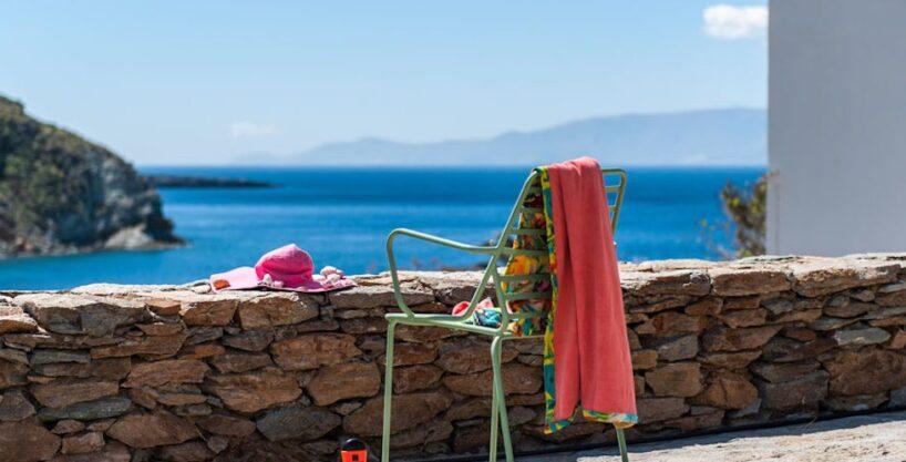 Economy Sea View Villa in Cyclades Greece, Kythnos Island