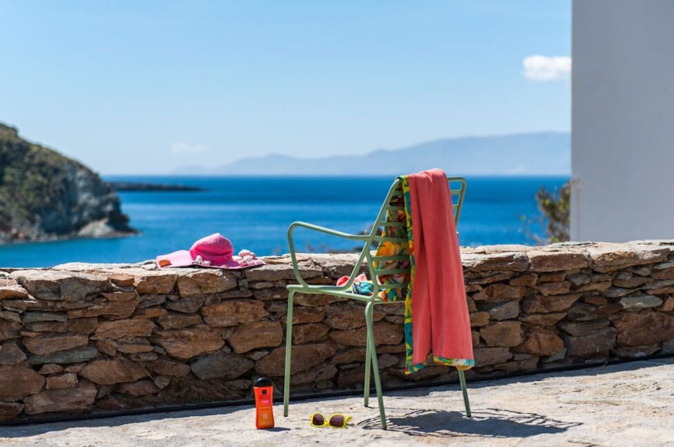 Economy Sea View Villa in Cyclades Greece, Kythnos Island