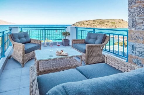 Waterfront Villa with sea view in Crete, Real Estate in Crete, Seafront house in Crete for Sale