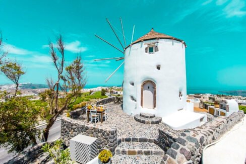 Windmill for sale in Santorini Greece 30