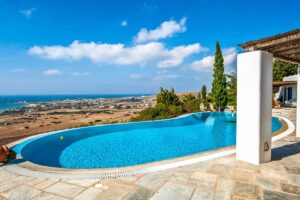 Panoramic View Villa in Paros Cyclades, Paros Greece Properties