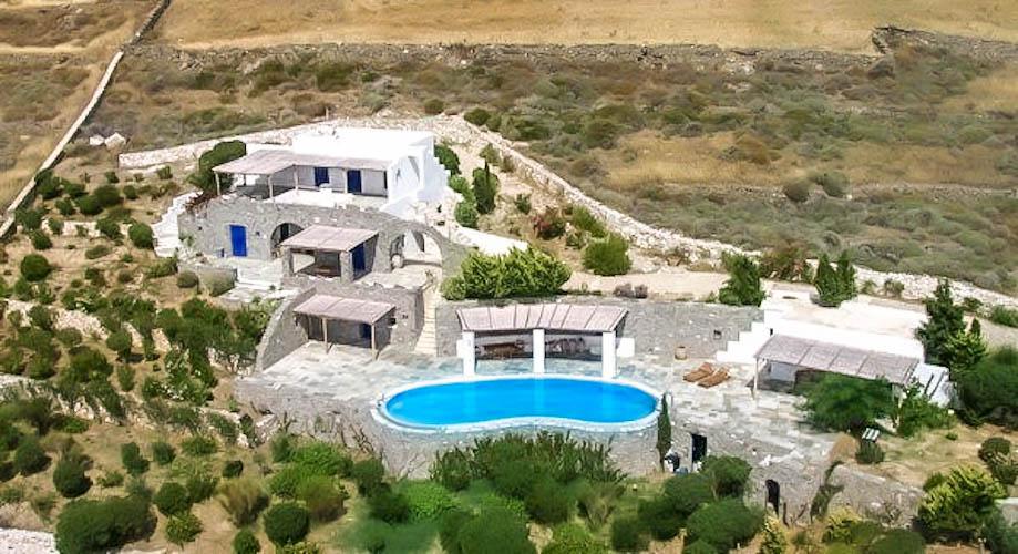 Panoramic View Villa in Paros Cyclades, Paros Greece Properties._