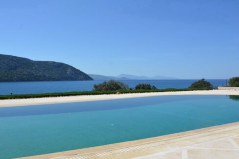 Seafront Mansion Porto Heli for Sale.  Porto heli Real Estate. Seafront Villa 13