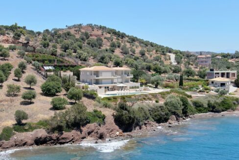 Seafront Mansion Porto Heli for Sale.  Porto heli Real Estate. Seafront Villa 14