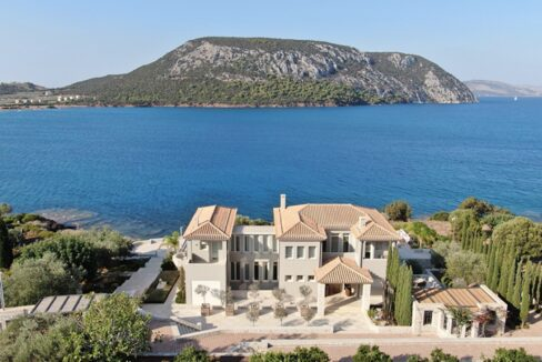 Seafront Mansion Porto Heli for Sale. Porto heli Real Estate. Seafront Villa