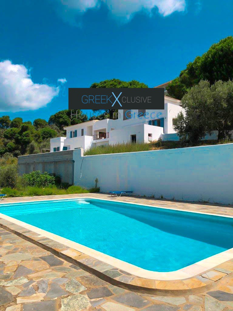 House with Sea View in Skiathos in a big land Plot