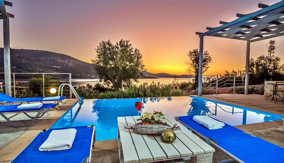 Seafront Villa Lefkada Greece. Lefkas Real Estate, Lefkada Ionio Greece Homes, Buy House in Greek Islands
