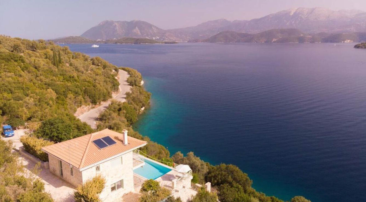Seafront Villa Meganisi Lefkada Greece, Real Estate Greece, Lefkas Realty