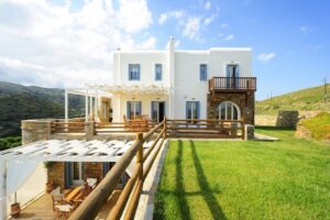 Villa for sale Andros Island Cyclades Greece, Properties in Greek Islands
