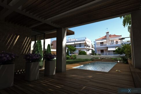 Modern maisonette with pool and garden, Alimos, South Athens 1
