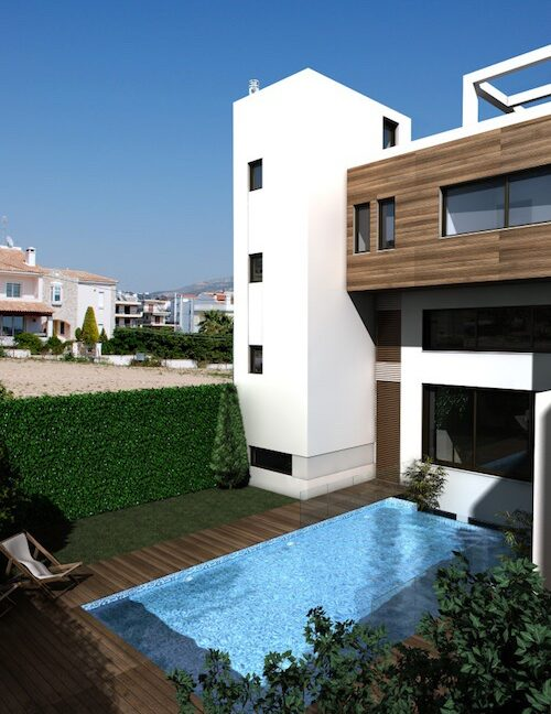 Modern maisonette with pool and garden, Alimos, South Athens 13