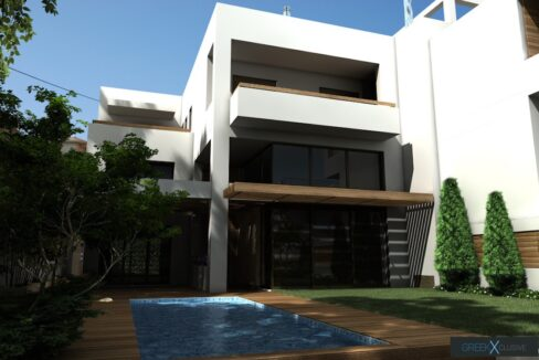 Modern maisonette with pool and garden, Alimos, South Athens 3