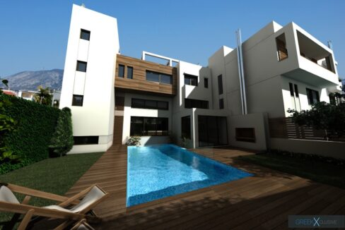 Modern maisonette with pool and garden, Alimos, South Athens 4