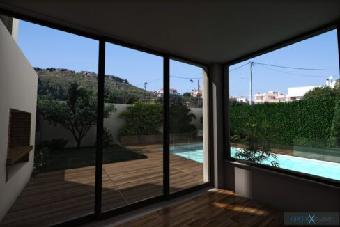 Modern maisonette with pool and garden, Alimos, South Athens 7