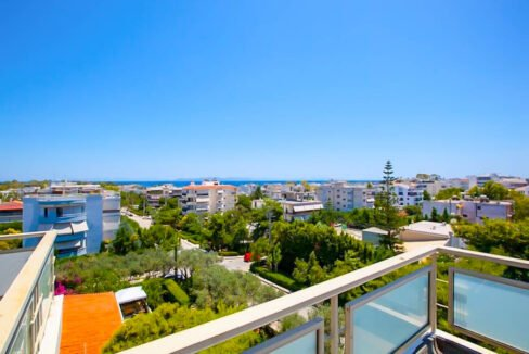 Penthouse with Sea View at Voula, Apartment for Sale in good area of Athens