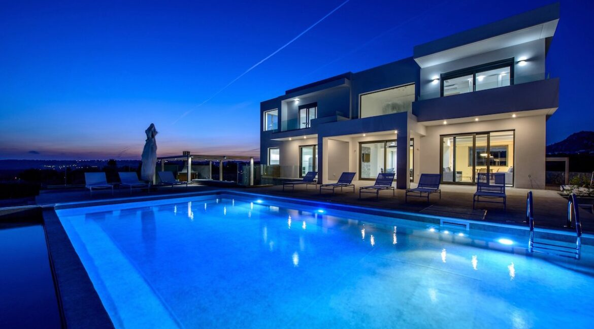 Sea View Minimal Villa in Rhodes Island. Luxury Properties Rhodes Greece