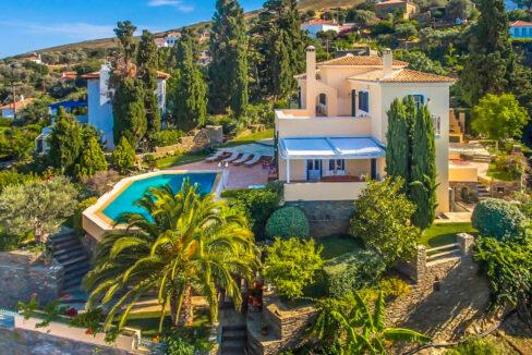 Sea View Villa in Andros Island in Cyclades Greece, Greek Island Properties
